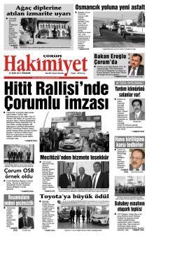 23 ekim.qxd - Çorum Hakimiyet Gazetesi