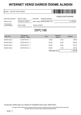 ınternet vergi dairesi ödeme alındısı 35pc186
