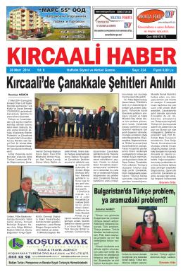 Sayı 224/2014 - Kırcaali Haber