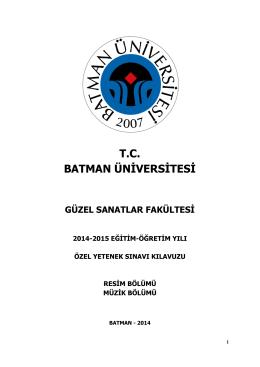 resim bölümü - Batman Üniversitesi