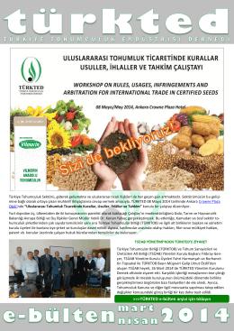 türkted mart-nisan 2014 bülteni