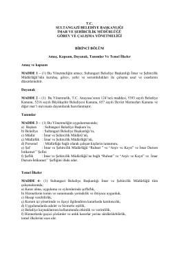 tc sultangazi belediye başkanlığı imar ve şehircilik müdürlüğü görev