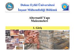 1. Giriş - Dokuz Eylül Üniversitesi