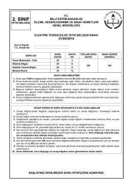 2.Sınıf Soru kitapçığı - Milli Eğitim Bakanlığı