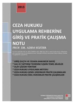 Uygulama Rehberi - İstanbul Üniversitesi | Hukuk Fakültesi