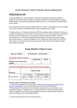 Kamu Hukuku Yüksek Lisans - Hacettepe Üniversitesi Hukuk Fakültesi