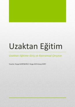 Uzaktan Eğitim - Anadolu Üniversitesi