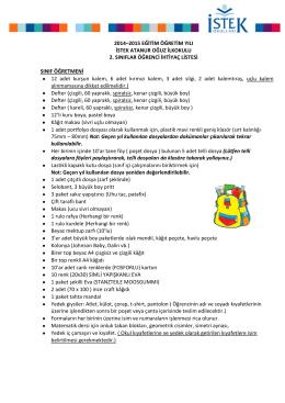 2014–2015 eğitim öğretim yılı istek atanur oğuz ilkokulu 2