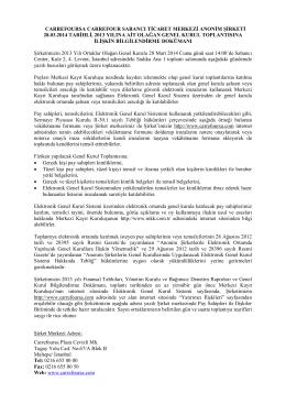carrefoursa carrefour sabancı ticaret merkezi anonim şirketi 28.03