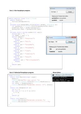 Kod örnekleri - yildizim.web.TR