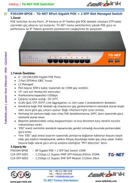 TG-NET P3010M-8POE | 8P Gigabit POE + 2 SFP Slot