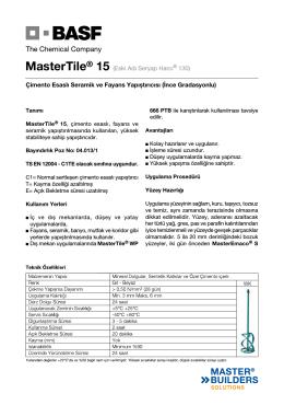 MasterTile® 15 (Eski Adı Seryap Harcı® 130) Çimento