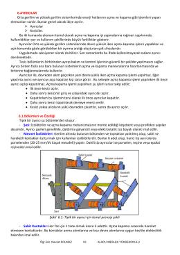 6.AYIRICILAR Orta gerilim ve yüksek gerilim sistemlerinde enerji