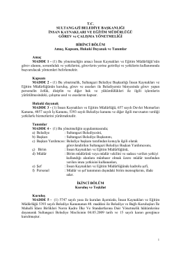 t.c. sultangazi belediye başkanlığı insan kaynakları ve eğitim
