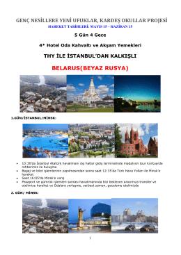 genç nesillere yeni ufuklar, kardeş okullar projesi belarus(beyaz