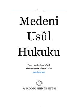 Yazan : Doç. Dr. Murat ATALI Özeti Hazırlayan : Ömer F