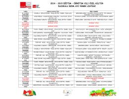 2-3.Sınıf Yemek Listesi