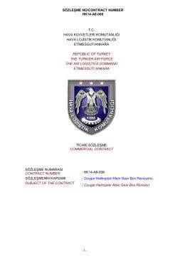 Sözlesme Tasarisi - Hava Lojistik Komutanlığı