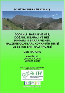 yaprak ı barajı-yaprak ıı regülatörü-hidroelektrik santralı ve malzeme