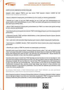 Casper Via V8C Smartphone Kampanyası Taahhütnamesi
