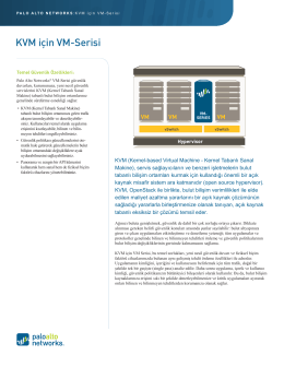 KVM için VM-Serisi - Palo Alto Networks