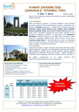 18 mart zaferine özel çanakkale - istanbul turu