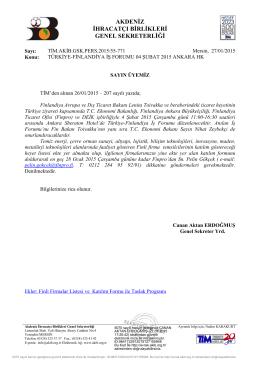 türkiye-finlandiya iş forumu 04 şubat 2015 ankara hk.
