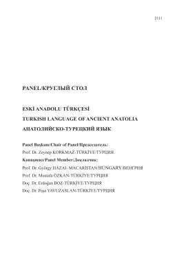 eski anadolu türkçesi - turkısh language of ancıent anatolıa