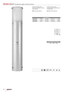 OUTSIDE 210LED Dış aydınlatma aygıtları /Outdoor