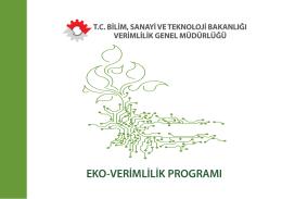 Eko-Verimlilik Programı - Sürdürülebilir Üretim Sempozyumu Ankara