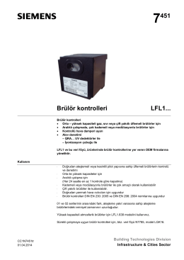 7451 Brülör kontrolleri LFL1