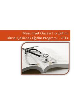 Mezuniyet Öncesi Tıp Eğitimi - Ulusal Çekirdek Eğitim Programı
