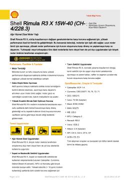 Shell Rimula R3 X 15W-40 (CH
