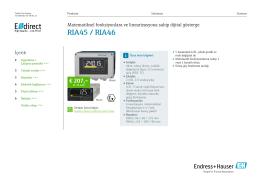 RIA45 / RIA46 (PDF 2,45 MB) - E-direct