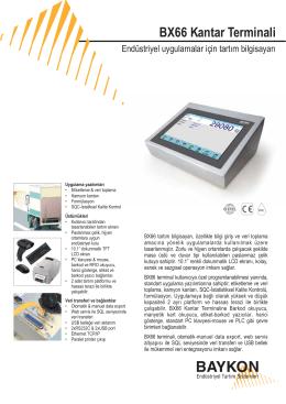 elektronik Katalog_BX66web - BAYKON Endüstriyel Tartım Sistemleri