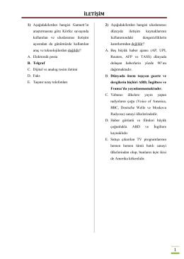İLETİŞİM - Basın Yayın ve Enformasyon Genel Müdürlüğü