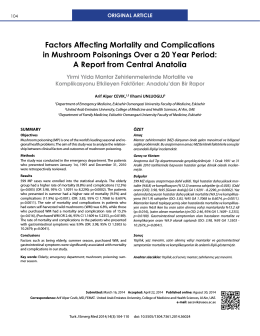 Factors Affecting Mortality and Complications in