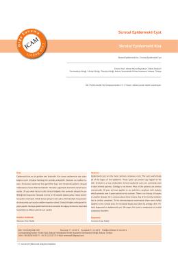 Scrotal Epidermoid Cyst Skrotal Epidermoid Kist