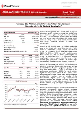 ziraat yatırım aselsan raporu
