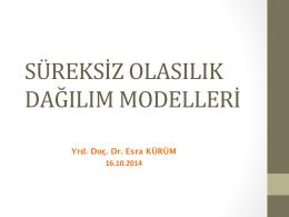 süreksiz olasılık dağılım modelleri