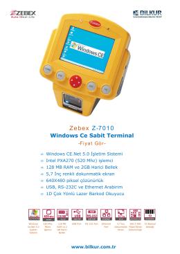 Zebex Z-7010 Teknik Özellikler