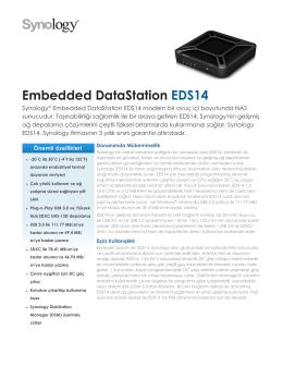 Synology EDS14 Broşür