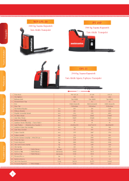 Forklift ve Depo Ekipmanlari