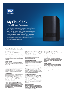 My Cloud™ EX2 Personal Cloud Storage Data Sheet