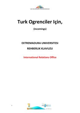 Turk Ogrenciler Için, - Universidad de Extremadura