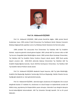 Prof. Dr. Hüdaverdi KÜÇÜKER