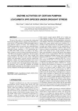 (cucurbita spp) species under drought stress