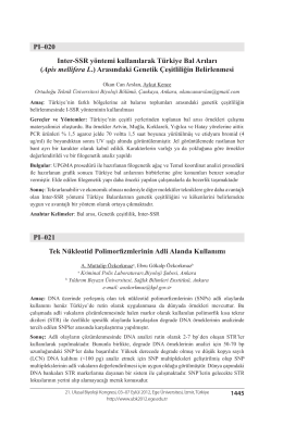 Tek Nükleotid Polimorfizmlerinin Adli Alanda Kullanımı