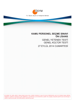 kamu personel seçme sınavı ön lisans