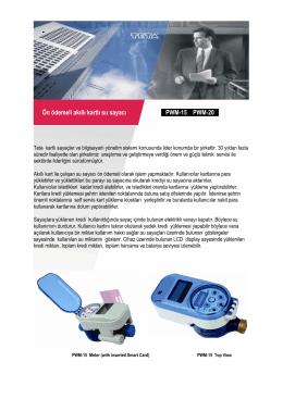 Ön ödemeli akıllı kartlı su sayacı PWM-15 PWM